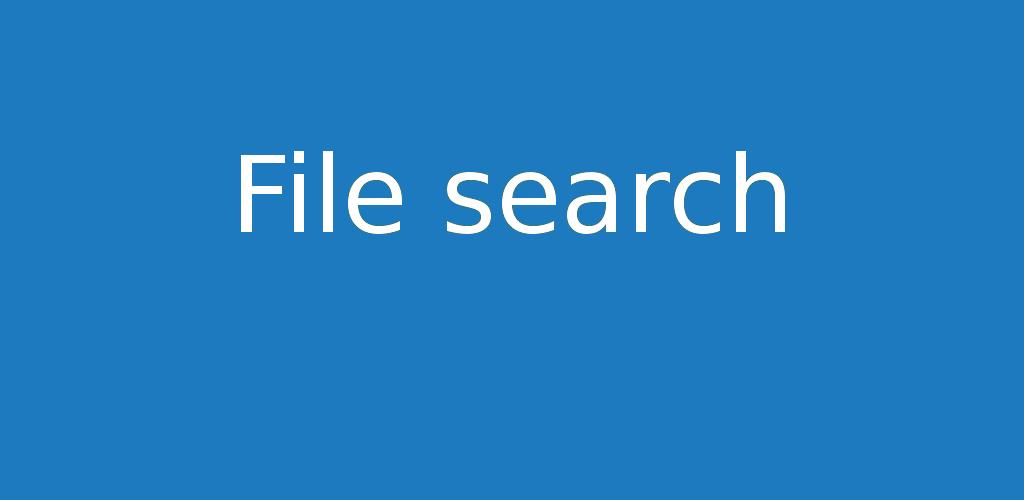 File search 1.2.20 – On peut désormais filtrer les résultats de recherches.